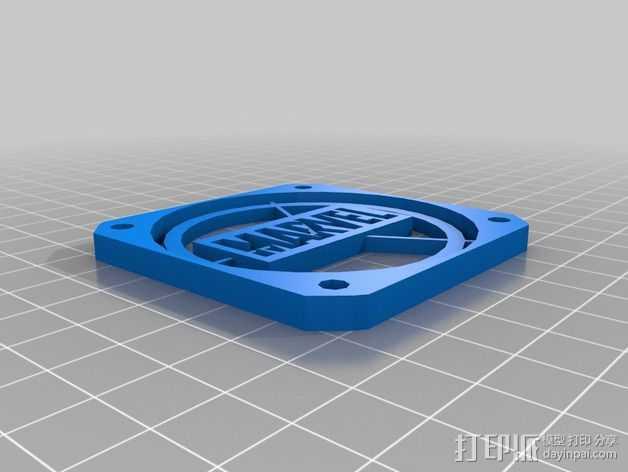 120毫米的风扇罩 3D打印模型渲染图