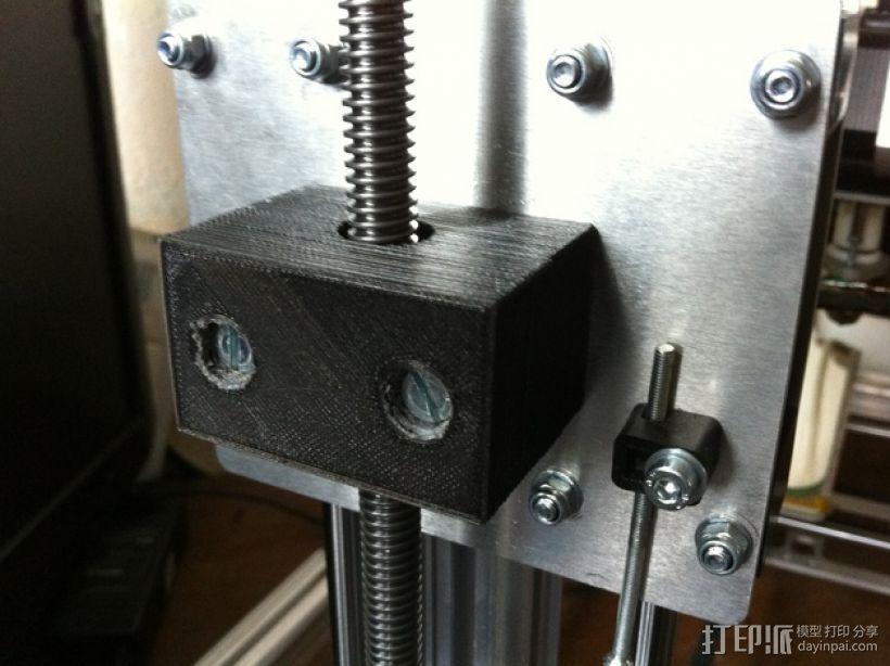 六角螺母固定器 3D打印模型渲染图