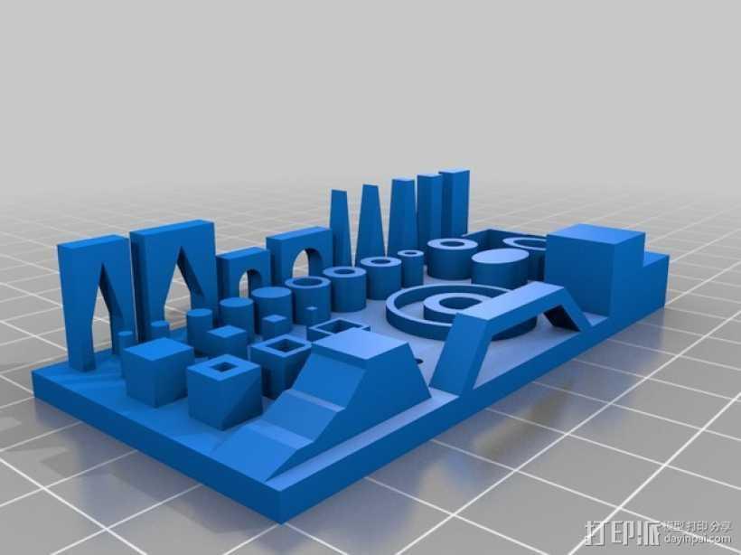 精度测试 3D打印模型渲染图