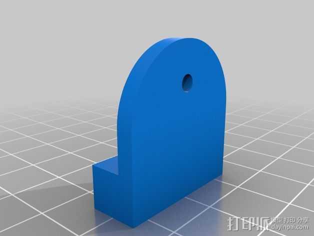 滑竿适配器 3D打印模型渲染图