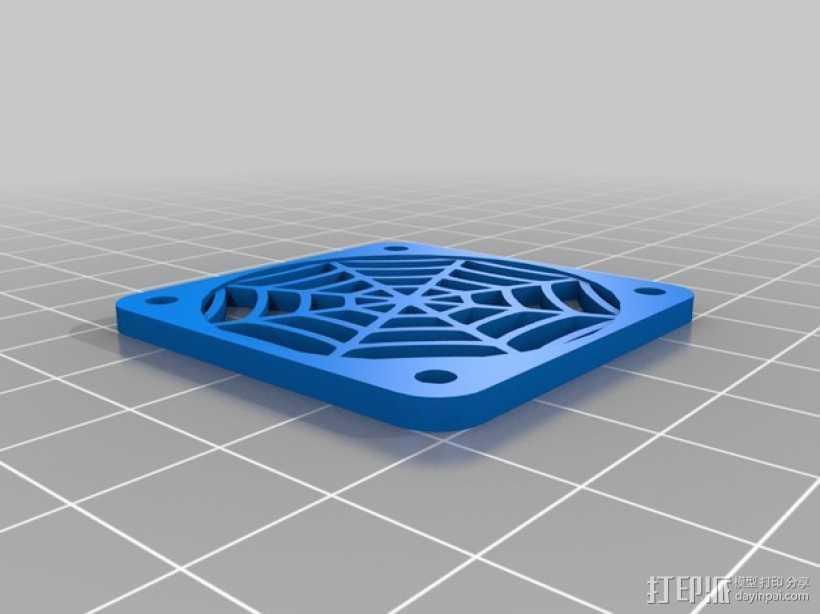 蜘蛛图案摆件 3D打印模型渲染图