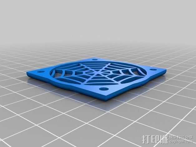 蜘蛛网摆件 3D打印模型渲染图