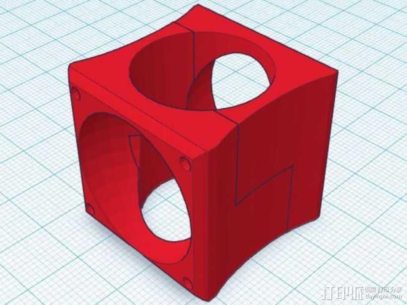 风管 E3D 3D打印模型渲染图