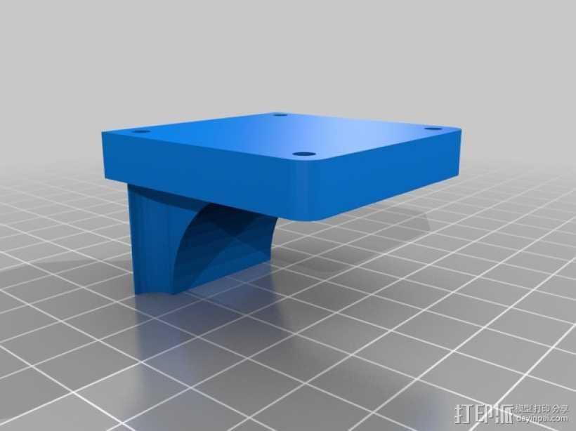 Y轴稳定挤出器 3D打印模型渲染图