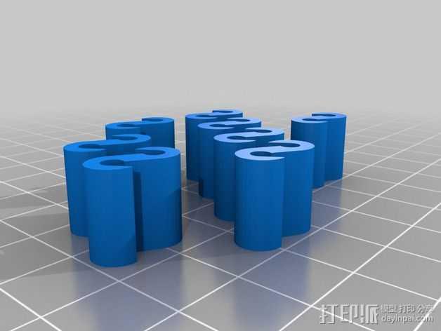 修改过后的灯丝夹 3D打印模型渲染图