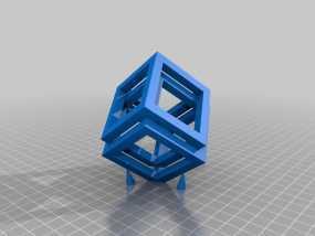 空心立方体摆件