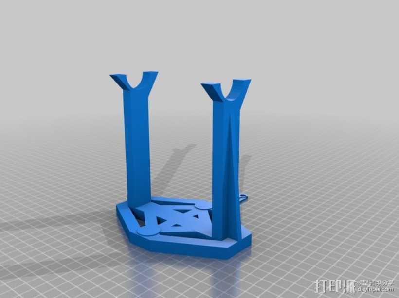 可打印线轴 3D打印模型渲染图