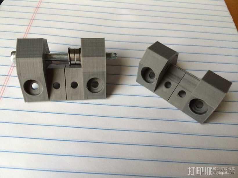 电动机支架 3D打印模型渲染图
