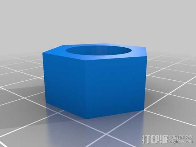 Z轴适配器 3D打印模型渲染图