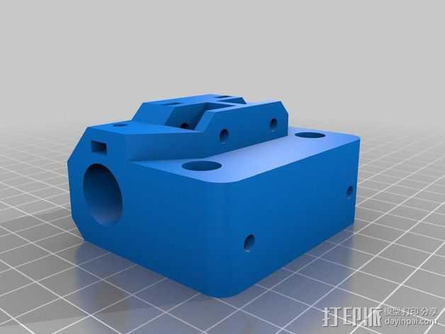 Core XY打印机的X Ends 3D打印模型渲染图