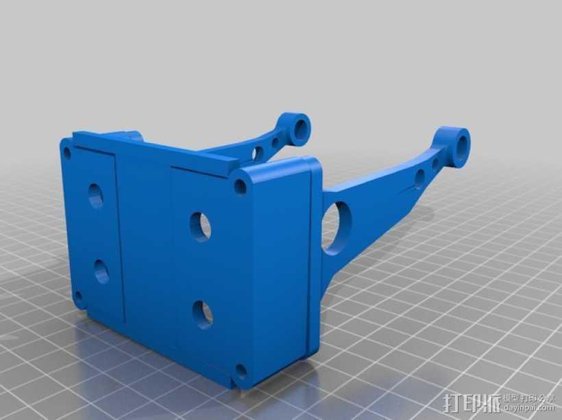 PrintrBot Simple打印机的线轴支撑器 3D打印模型渲染图