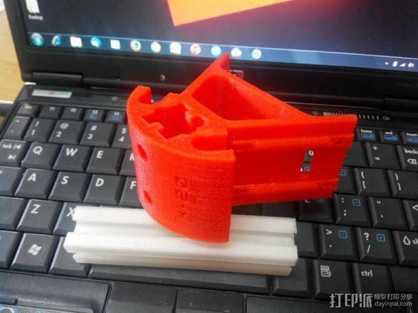 Kossel K-20打印机的部件 框架固定器 3D打印模型渲染图