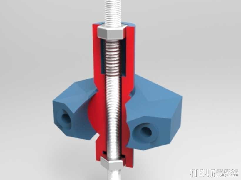 K8200打印机上的万向节螺杆固定器 3D打印模型渲染图