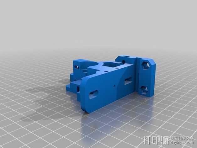 prusa i3 打印机的挤出机支架 3D打印模型渲染图