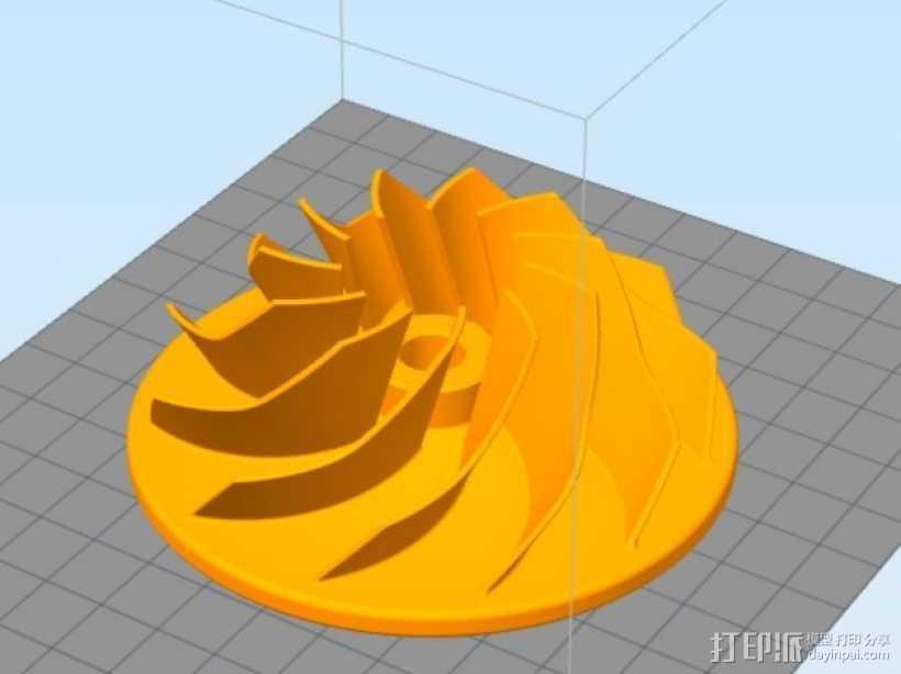 叶轮 3D打印模型渲染图
