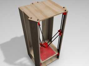 Rostock 打印机的木质框架