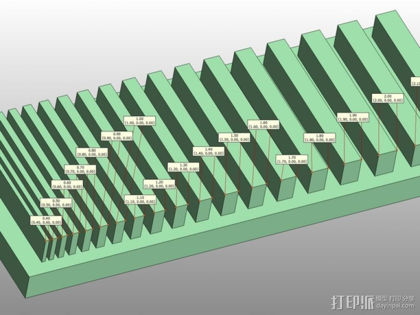 打印测试 搓衣板 3D打印模型渲染图
