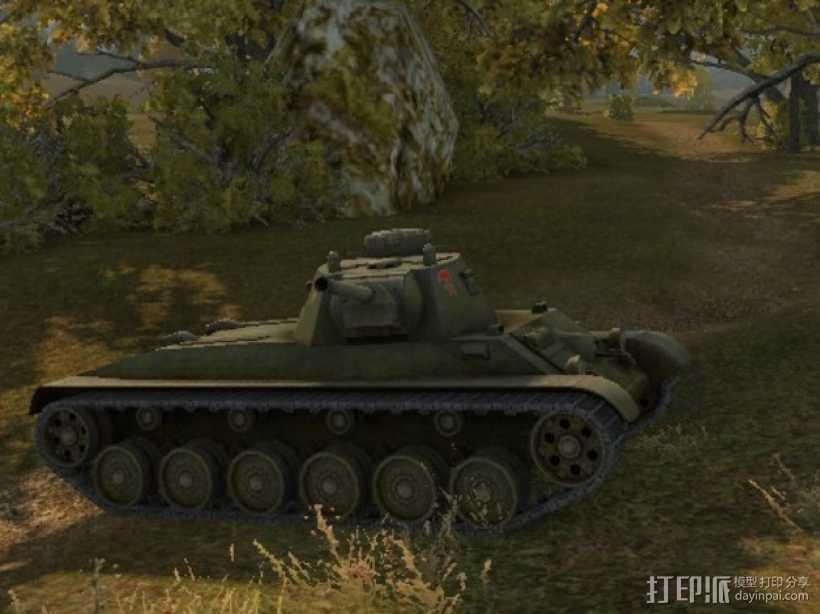 A43坦克 A43黒太子步兵坦克 3D打印模型渲染图