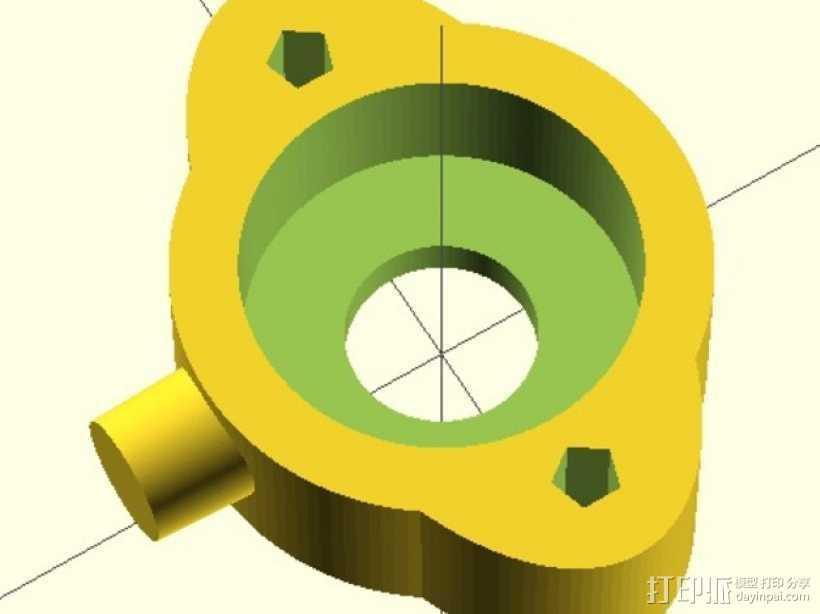 Da Vinci 1.0打印机Y轴轴承支架 3D打印模型渲染图