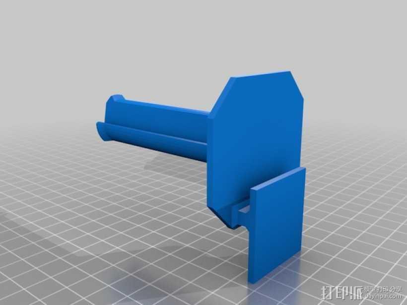 Makerbot Replicator 2 线轴支撑架 3D打印模型渲染图