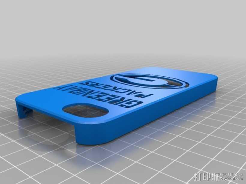 绿湾包装工队 Iphone 5 手机套 3D打印模型渲染图