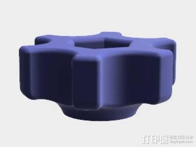 蝶形螺母旋钮 3D打印模型渲染图