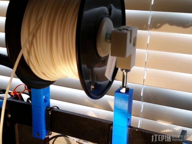 Prusa i3打印机的线轴支撑器 3D打印模型渲染图