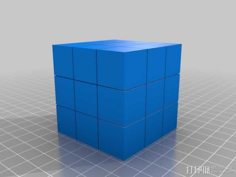 魔方方块 3D打印模型渲染图