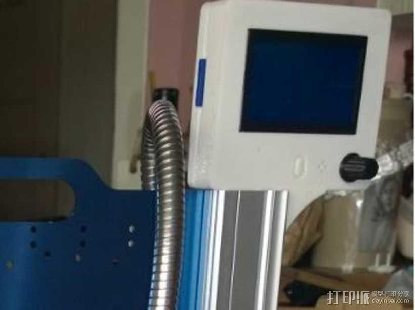 智能控制器显示屏外框 3D打印模型渲染图