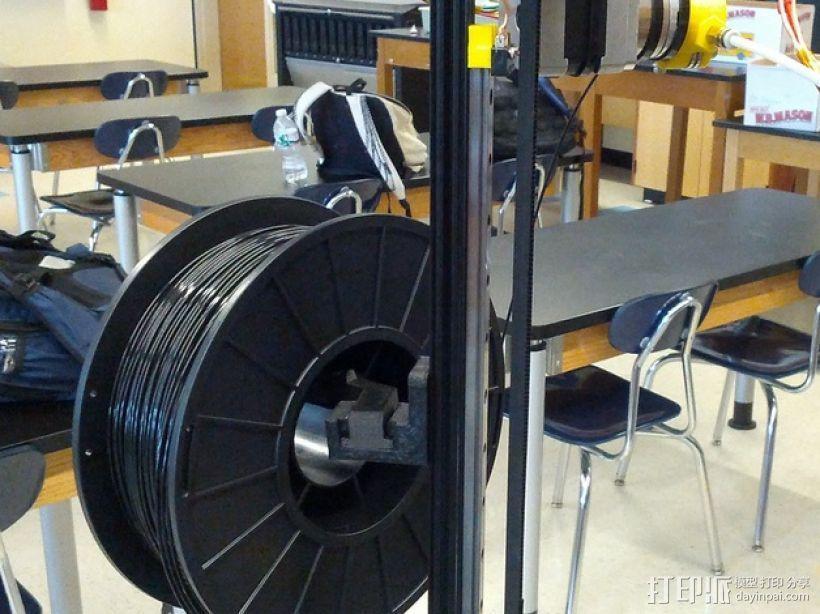 Mini Kossel delta式打印机的线轴支架 3D打印模型渲染图