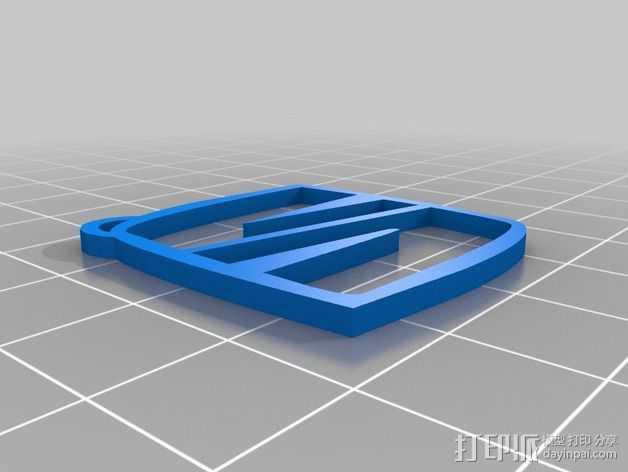 钥匙扣 3D打印模型渲染图