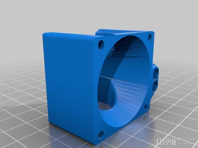 喷头风扇支架 3D打印模型渲染图