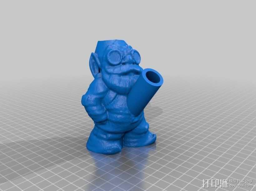 树精 小矮人 3D打印模型渲染图