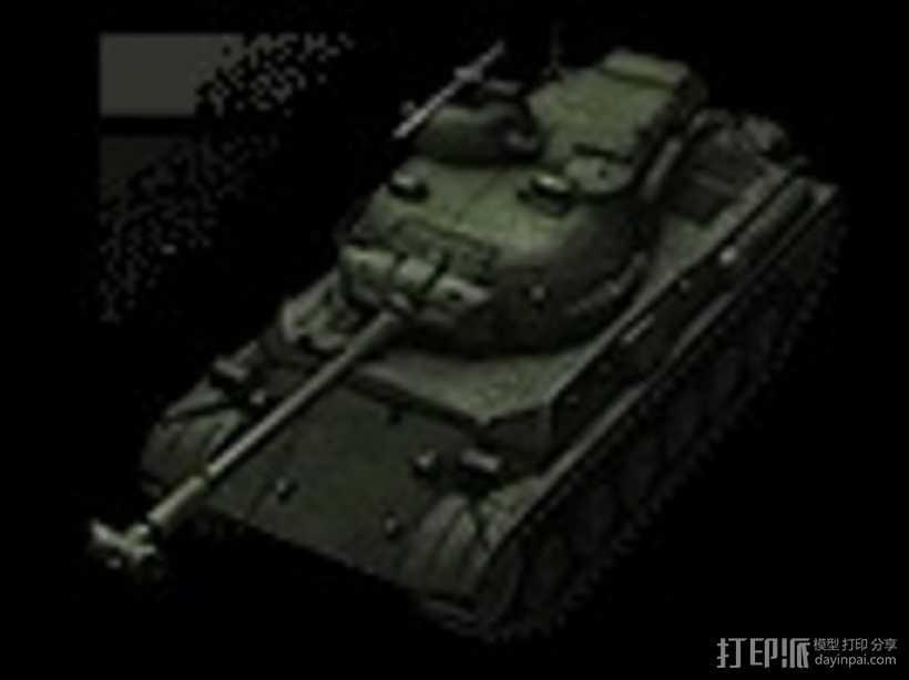 61式坦克 3D打印模型渲染图