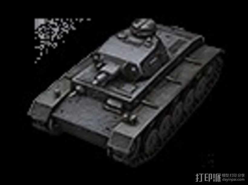 DW II坦克 3D打印模型渲染图