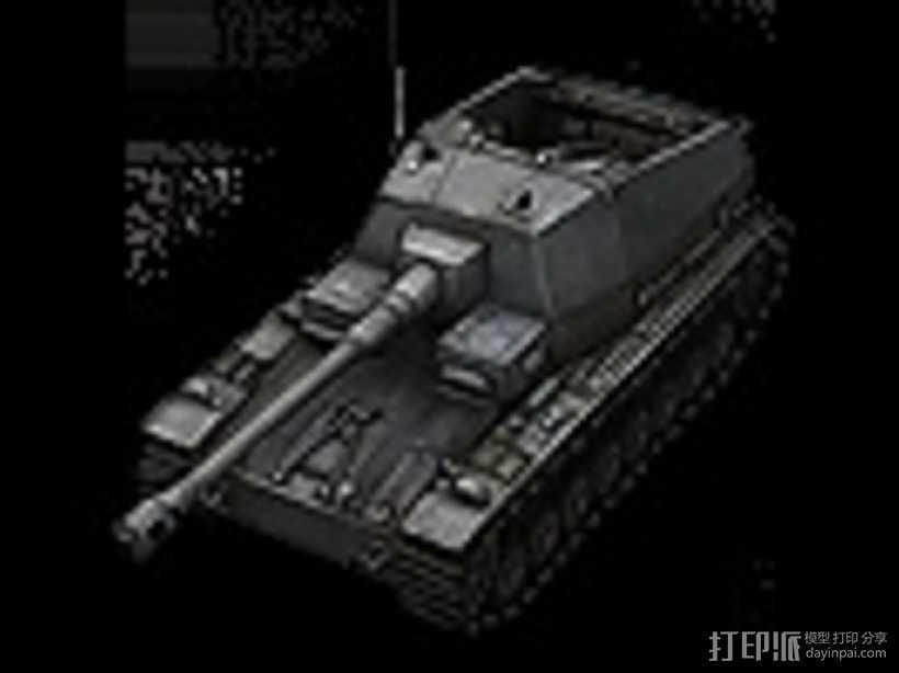 DickerMax坦克 大麦克斯自行反坦克炮 3D打印模型渲染图