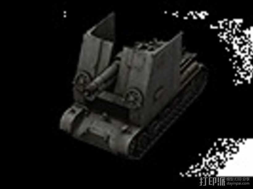 野牛二级SPG坦克 3D打印模型渲染图