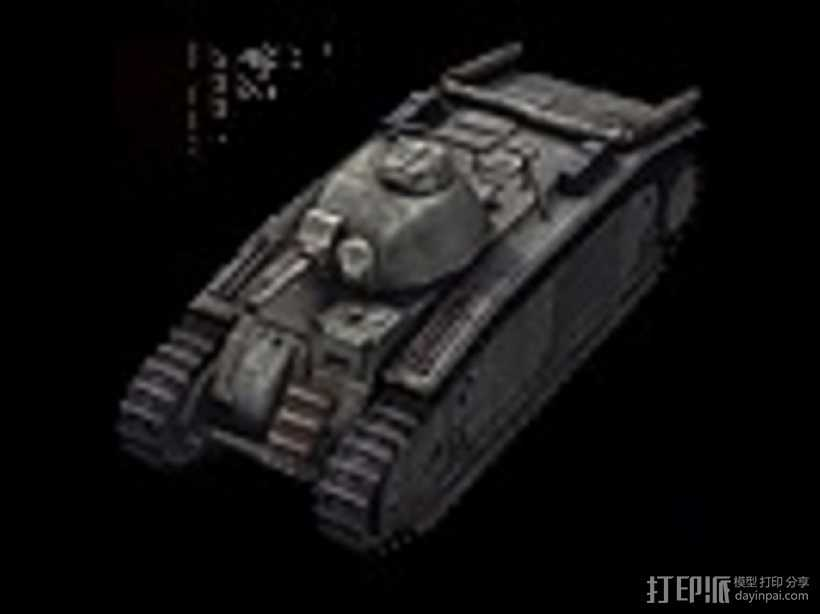 B1-bis重型坦克 3D打印模型渲染图
