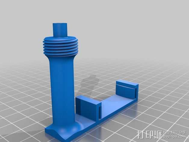 Prusa i3打印机上的相机支架 3D打印模型渲染图