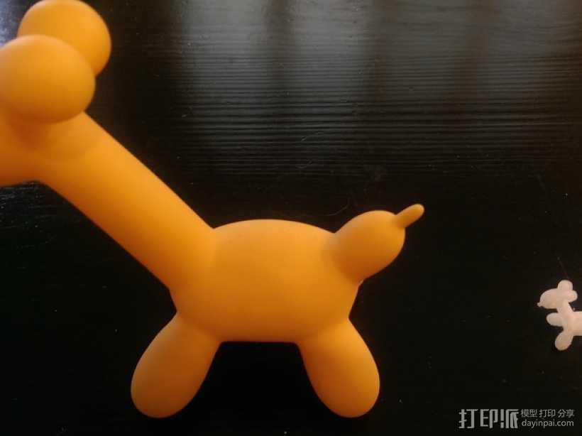 气球长颈鹿 3D打印模型渲染图