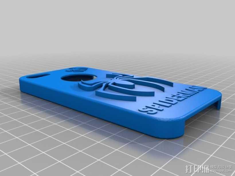 蜘蛛侠iPhone5手机套 3D打印模型渲染图