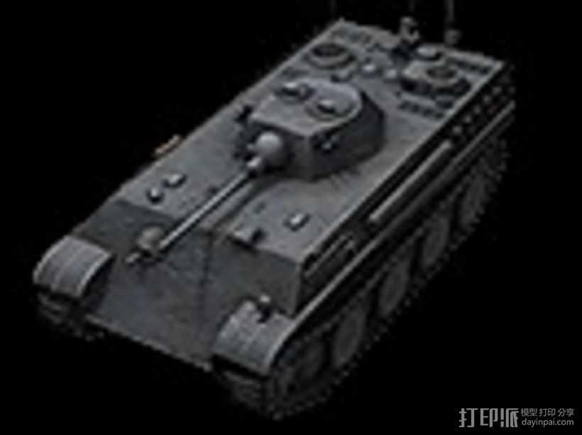 德国7阶轻型坦克 Auf Panther 3D打印模型渲染图
