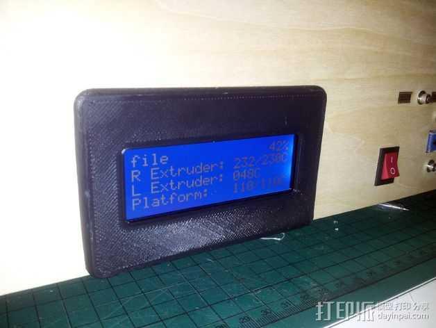 Flashforge打印机的显示屏外框 3D打印模型渲染图