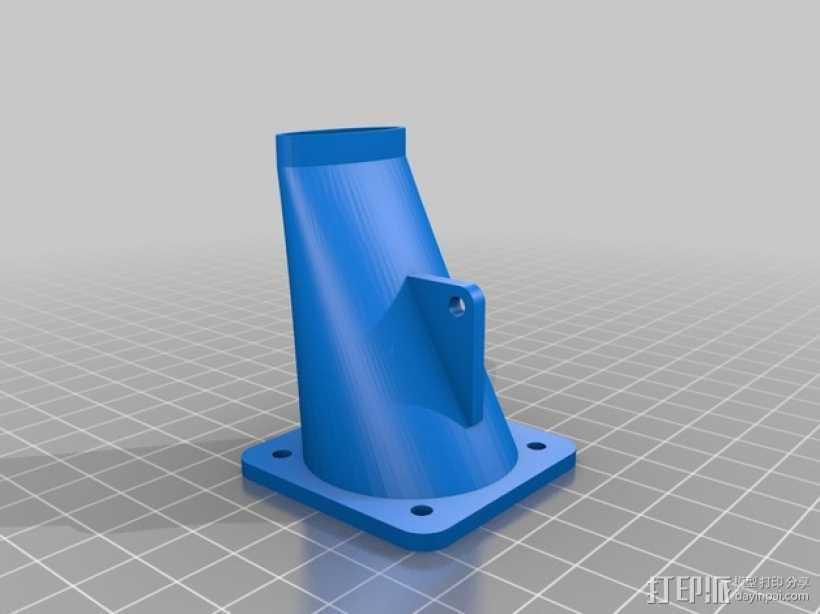 Prusa i3 打印机的风扇和风扇导管 风扇支架 3D打印模型渲染图