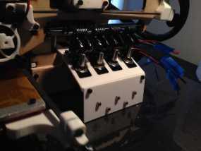 Printrbot Simple打印机的开关和LED显示屏支架