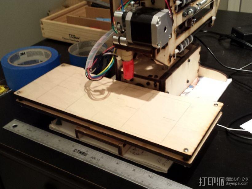 X轴打印机延展板 3D打印模型渲染图