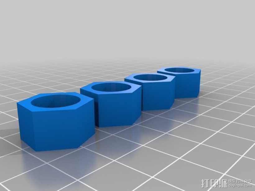 Duplicator 4旋钮 3D打印模型渲染图