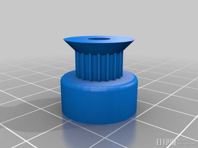 参数化的滑轮 3D打印模型渲染图