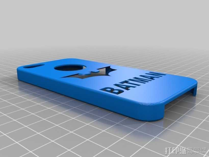 蝙蝠侠iPhone5手机外壳 3D打印模型渲染图