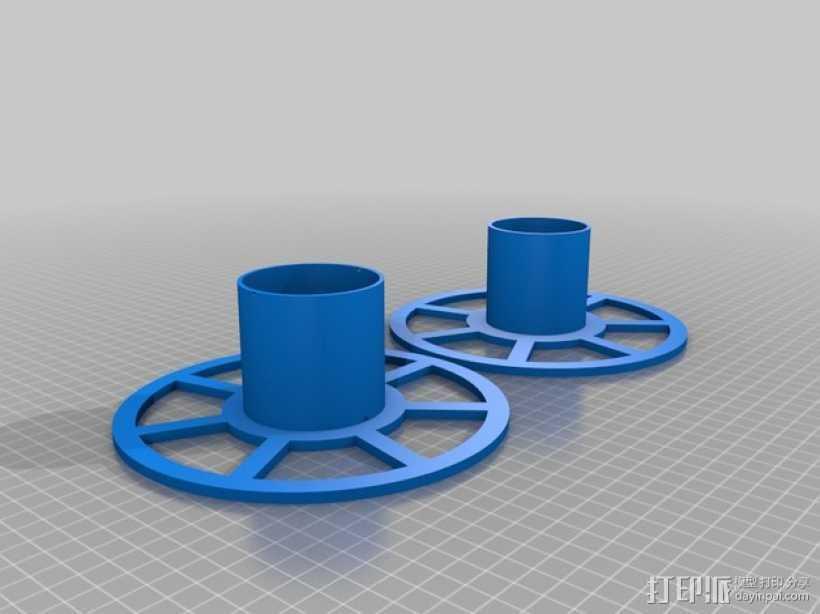 XYZ Da Vinci 打印机的线轴 3D打印模型渲染图